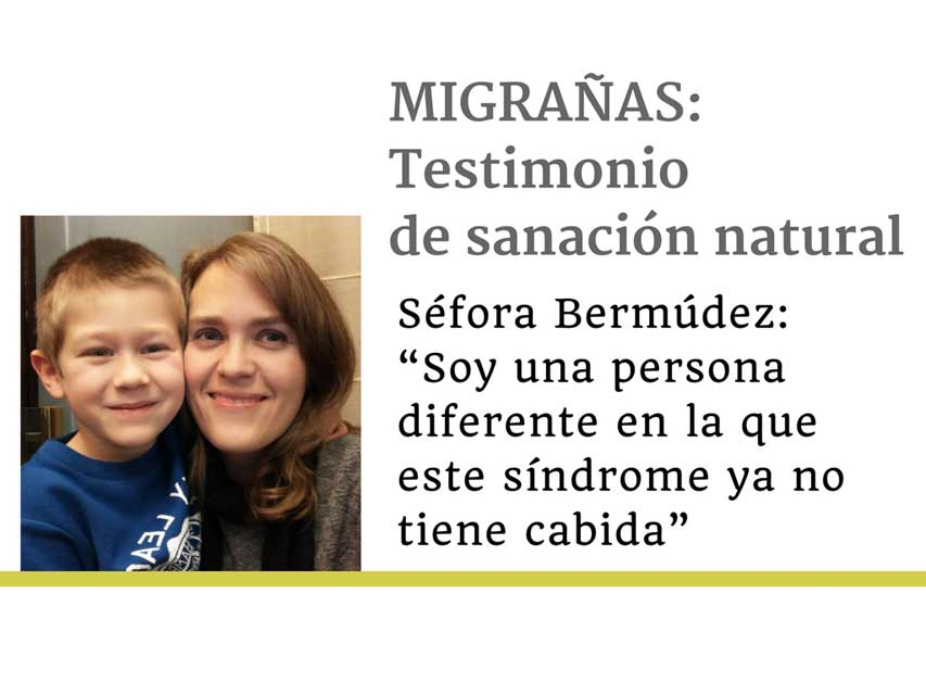 Entrevista a Séfora Bermúdez, ex paciente de migrañas: «Si sigues comiendo lo mismo, haciendo lo mismo y pensando lo mismo seguirás teniendo las mismas migrañas»