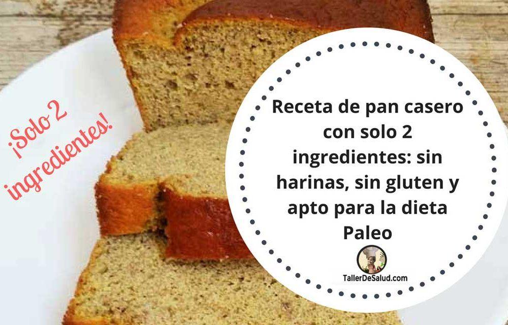 Receta de pan casero con solo 2 ingredientes: sin harinas, sin gluten y apto para la dieta Paleo