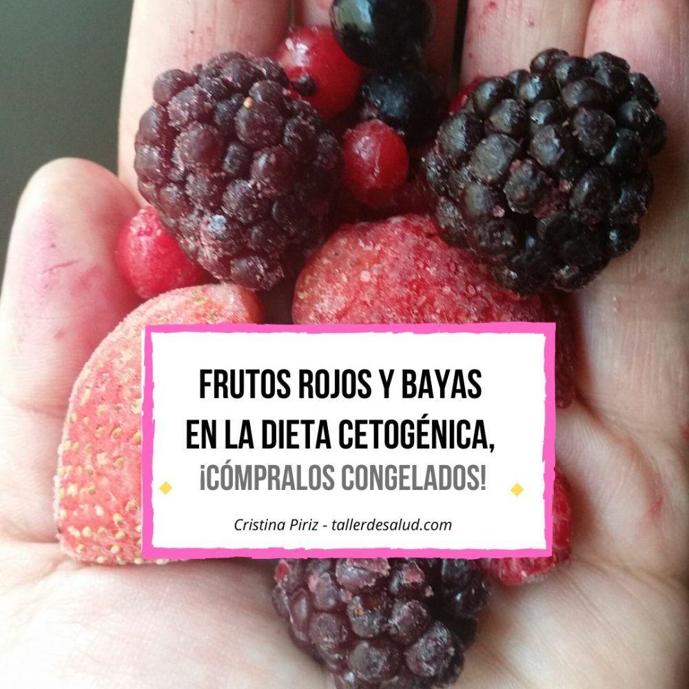 Frutos rojos y bayas en la dieta cetogénica, ¡cómpralos congelados!