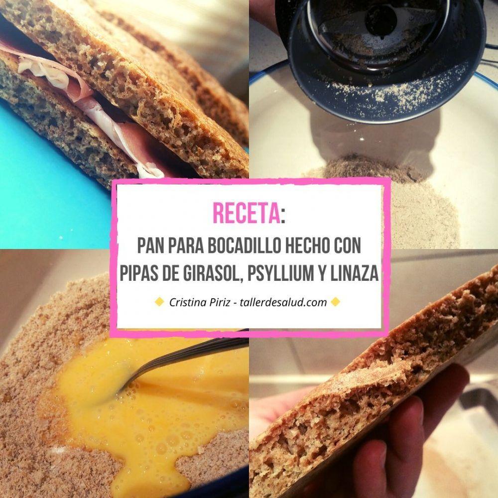 Keto Receta: Pan para bocadillo hecho de pipas de girasol, psyllium y linaza