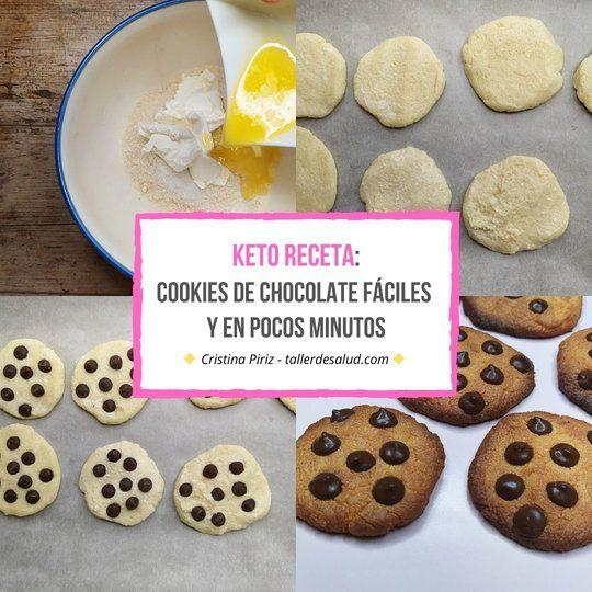 Keto receta: Cookies de chocolate fáciles y en pocos minutos