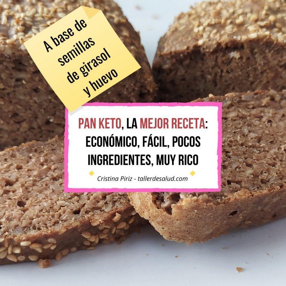Keto receta: El mejor pan keto – Fácil, pocos ingredientes, económico, muy rico