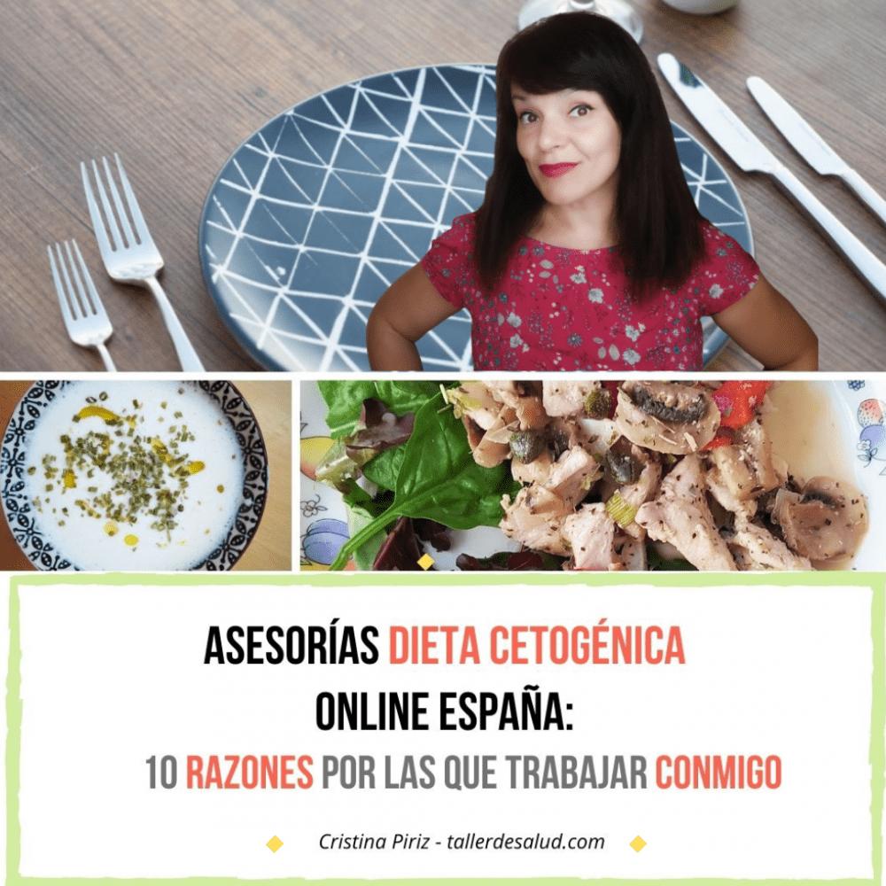 Asesorías dieta cetogénica online España: 10 razones por las que trabajar conmigo