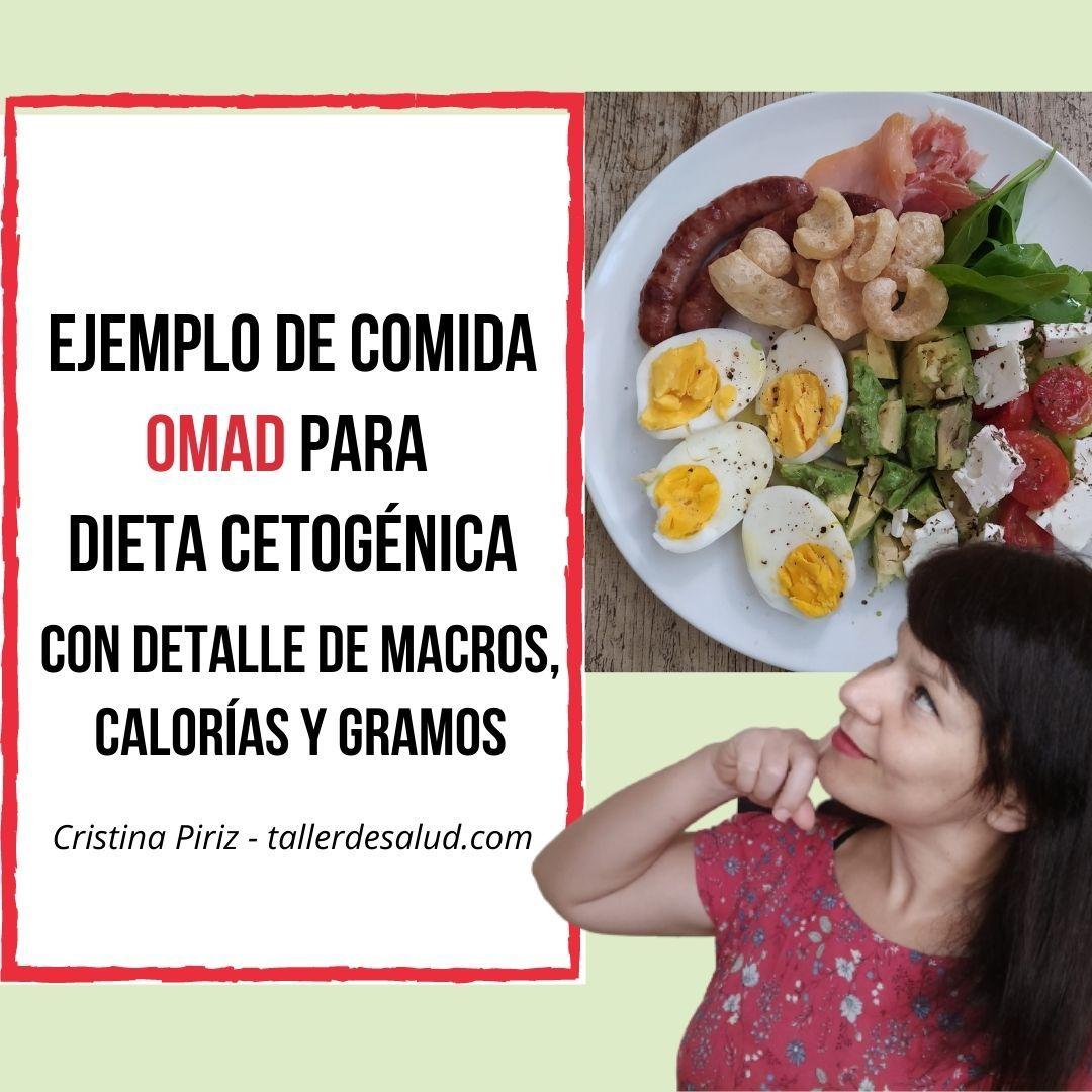 que comer en dieta omad ejemplo para un dia con macros calorias gramos keto cetogenica