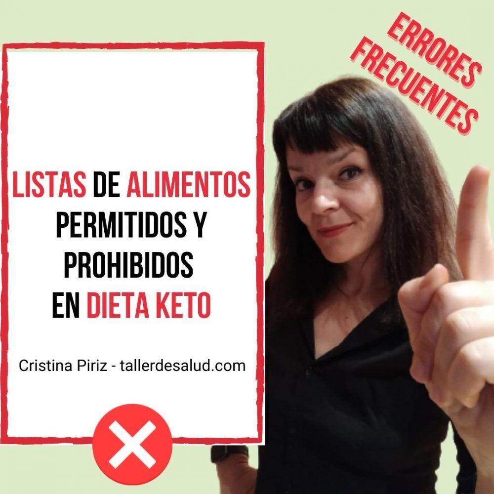 Listas de Alimentos Permitidos y Prohibidos en Dieta Keto – Errores Frecuentes