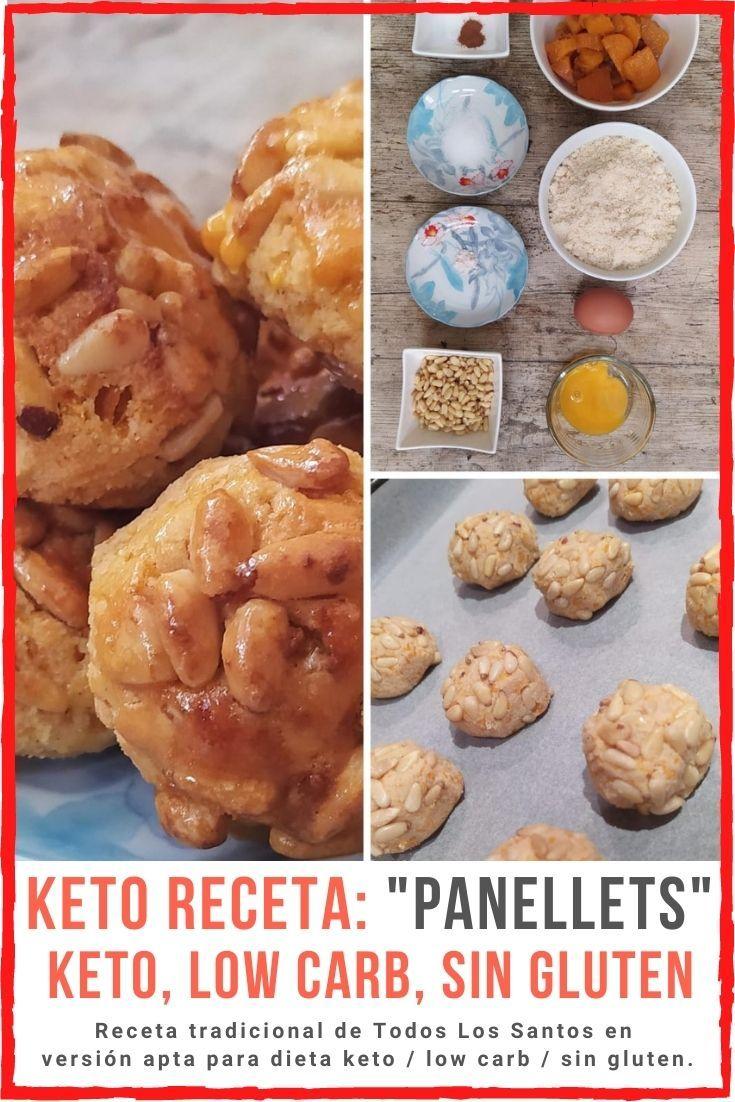 receta panellets panallets version keto low carb cetogenica sin azucar sin harinas sin gluten celiacos dieta no engordan pinterest